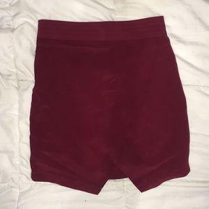 Maroon Madewell skirt brand new